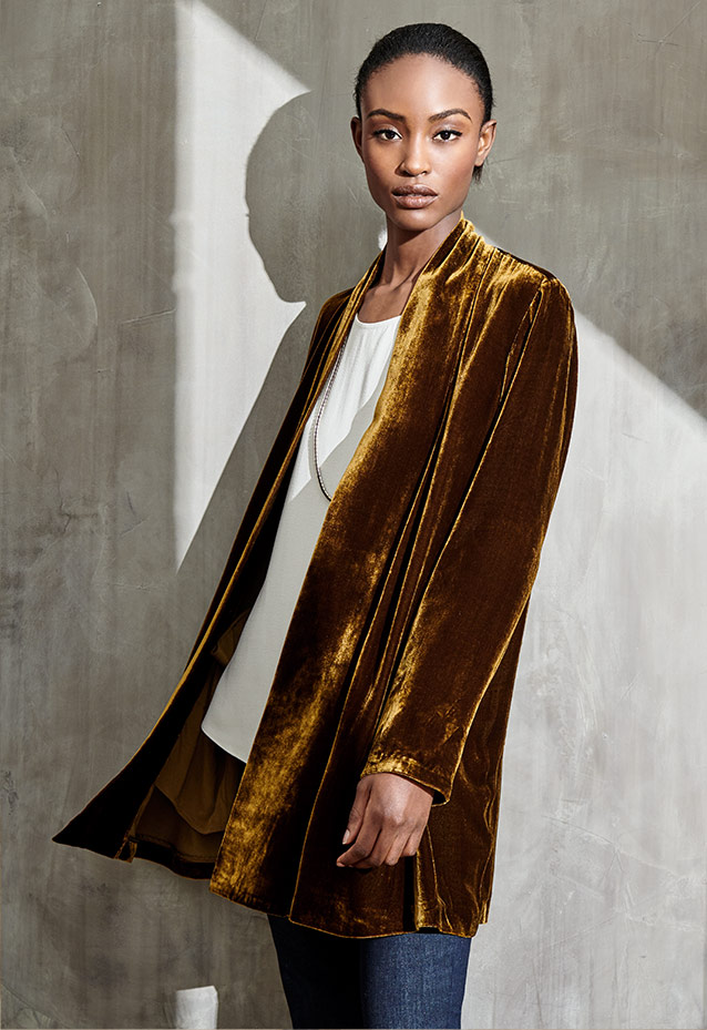 b679f05d9ff3a Eileen Fisher Plus Size Velvet Clothing Lookbook at Neiman Marcus