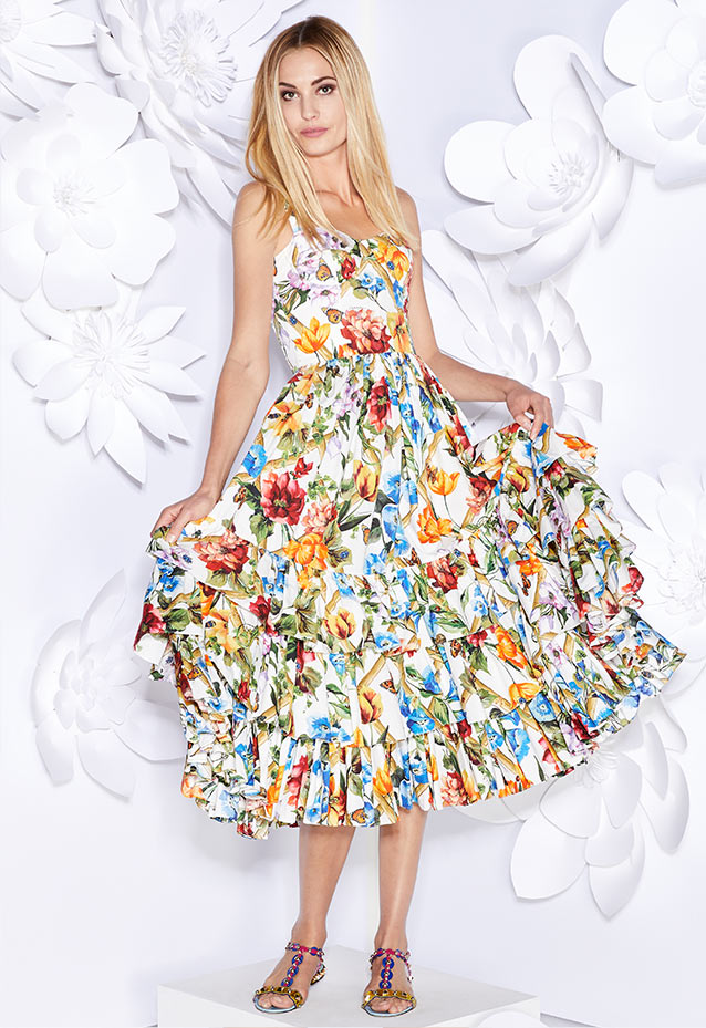 dc6630f2a871 Shop Now Floral Bamboo Printed Ruffled Dress