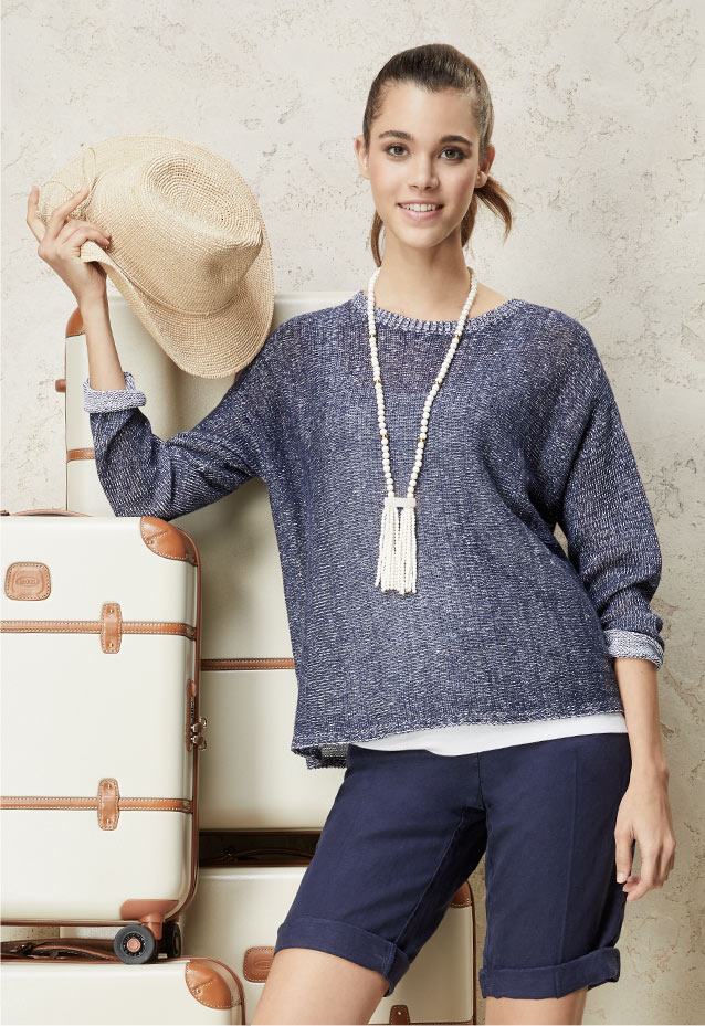 Linen Box Top, Slim Tank + Linen Shorts