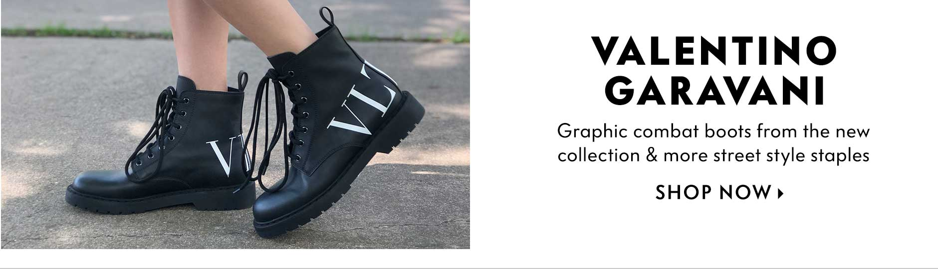 Valentino Garavani - Graphic combat boots from the new collection & more street style staples