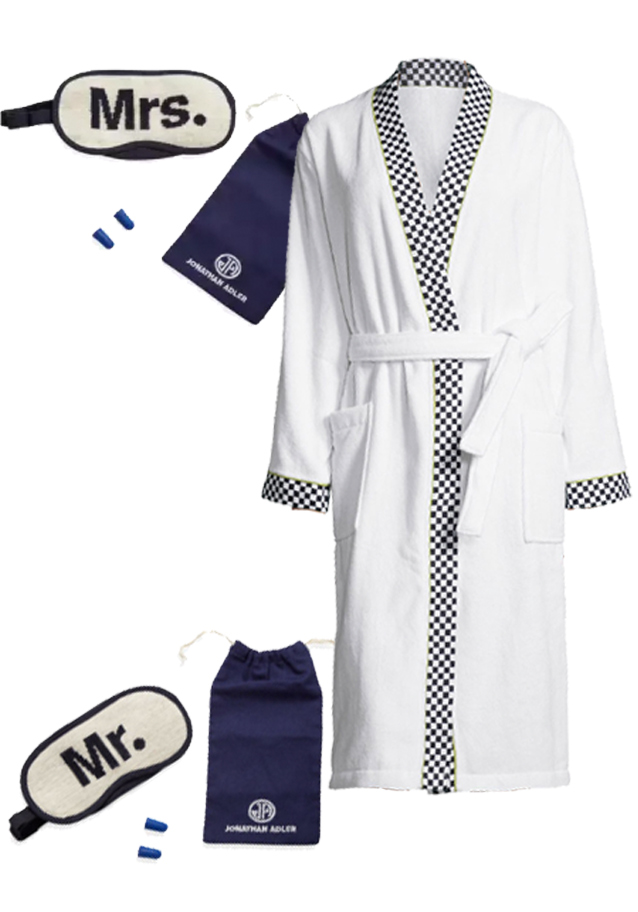 jonathan adler & mackenzie-Childs Travel Kit & Robe
