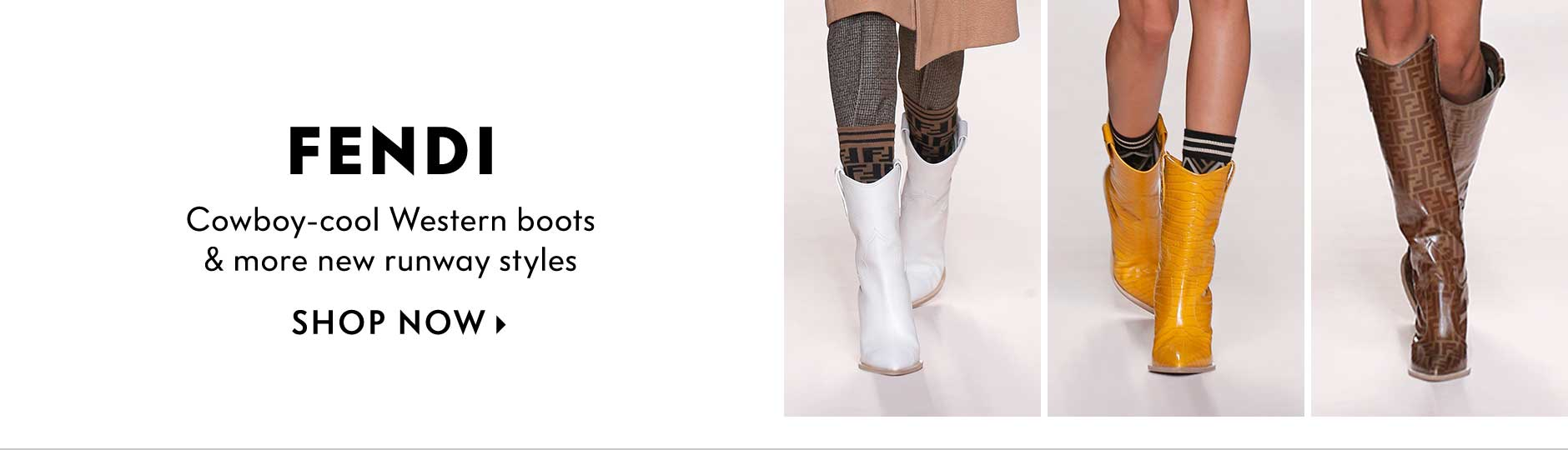 Fendi - Cowboy-cool Western boots & more new runway styles