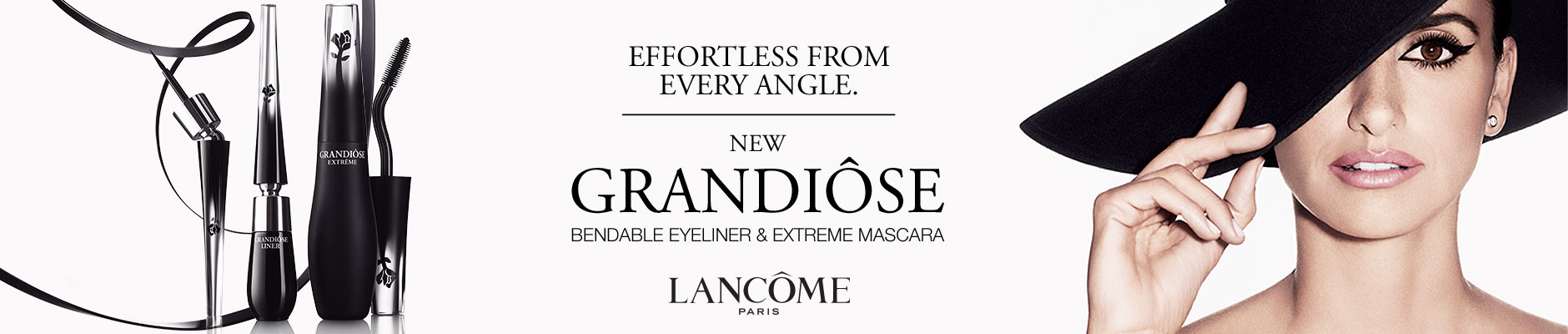 Effortless From Every Angle: New Grandiose Bendable Eyeliner & Extreme Mascara - Lancome Paris