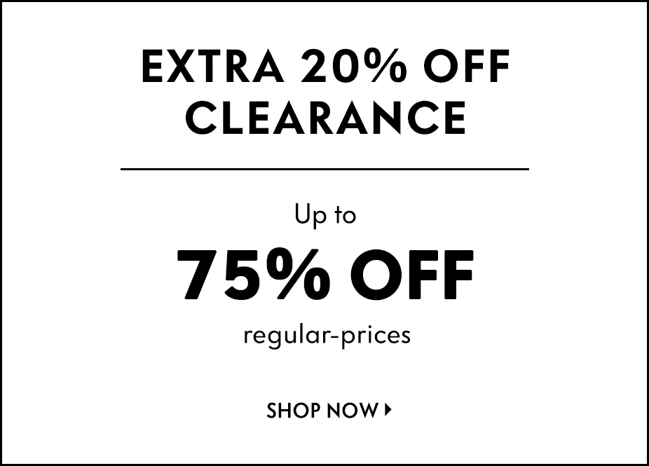Extra 20% off online clearance
