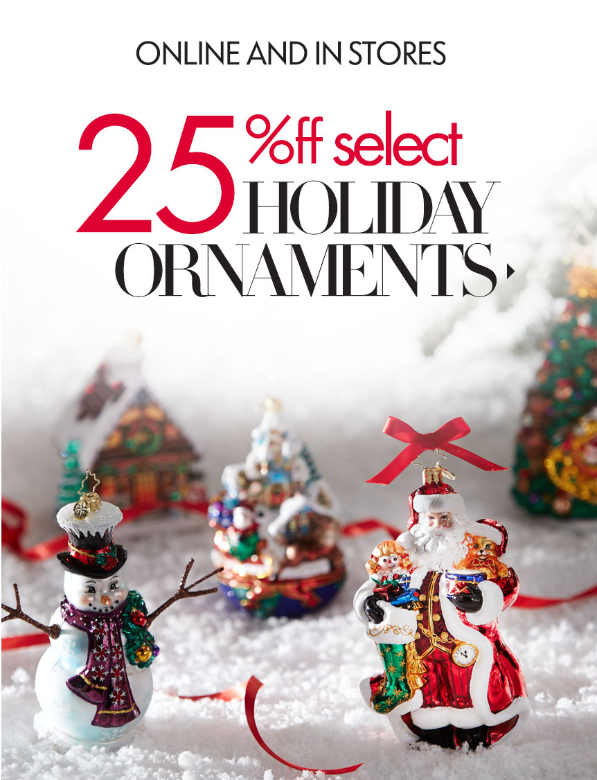25% Off Ornaments Event