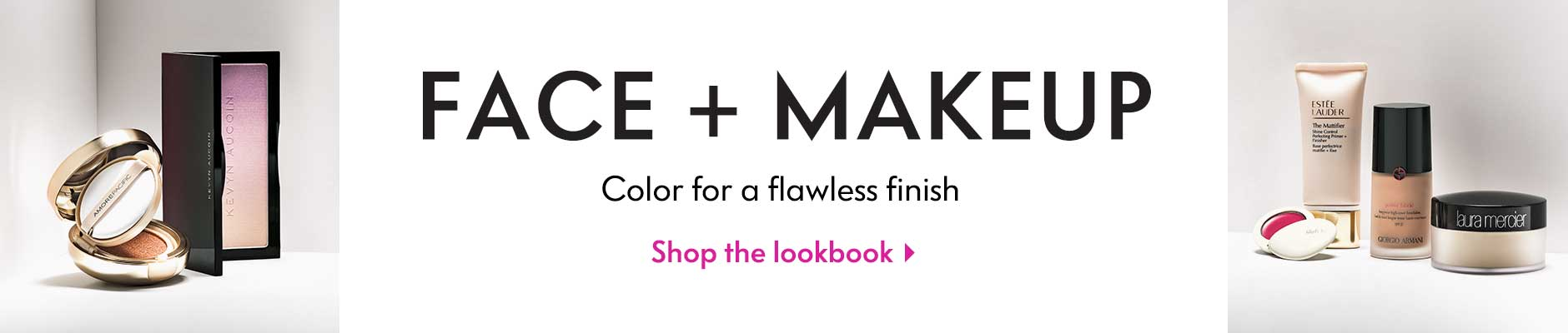 Face + makeup - color for a flawless finish - shop the lookbook