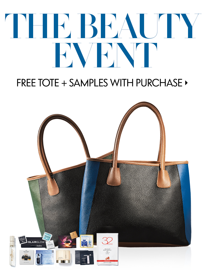Beauty Event: Free tote + samples with purchase