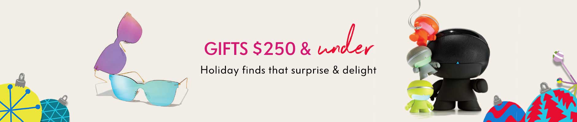 Gifts $250 & under - Holiday finds that surprise & delight
