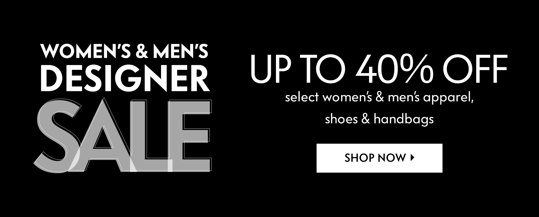 Women's & Men's: Designer Sale - Up to 40% off select styles