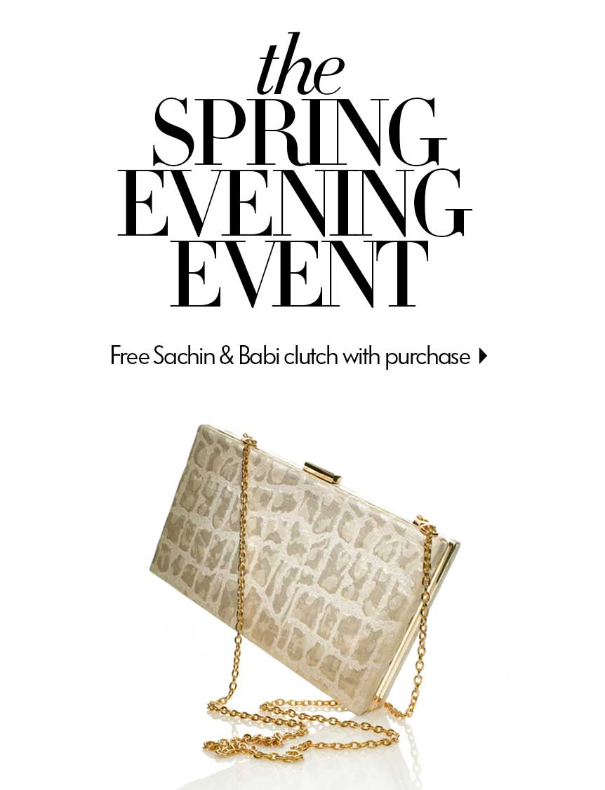 Free clutch with Evening Purchase