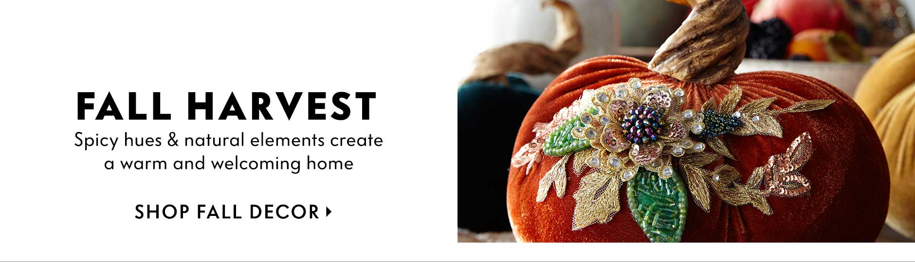 Fall Harvest - Spicy hues & natural elements create a warm and welcoming home