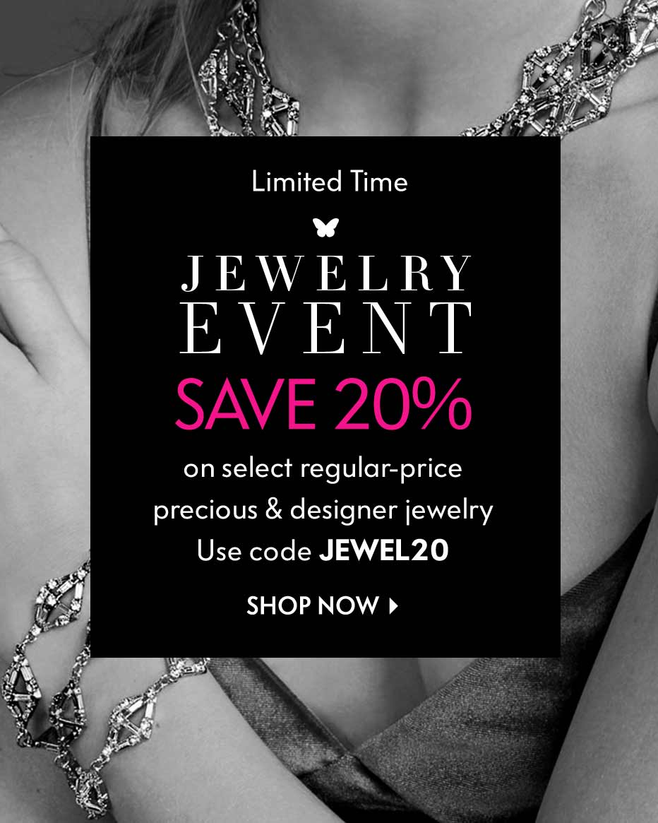 Limited Time: Jewelry Event - Save 20% on select regular prices - Use code JEWEL20