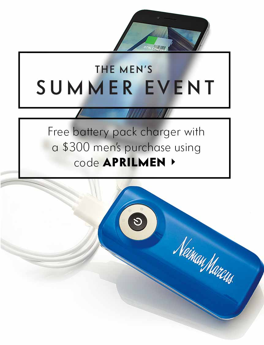 Free charger with purchase! Men???s Summer Event