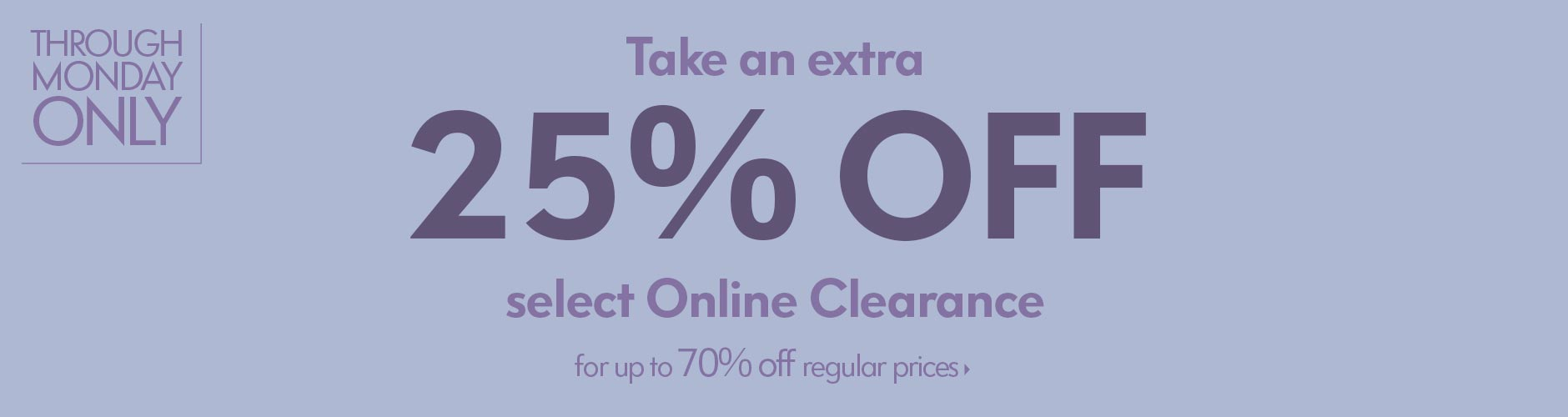 Extra 25% off Online Clearance