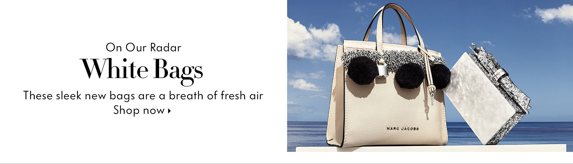 On our radar - White bags, these sleek new bags are a breath of fresh air