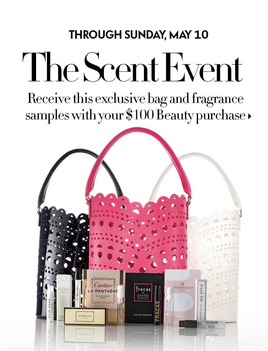 The Scent Event: Free tote + samples with purchase