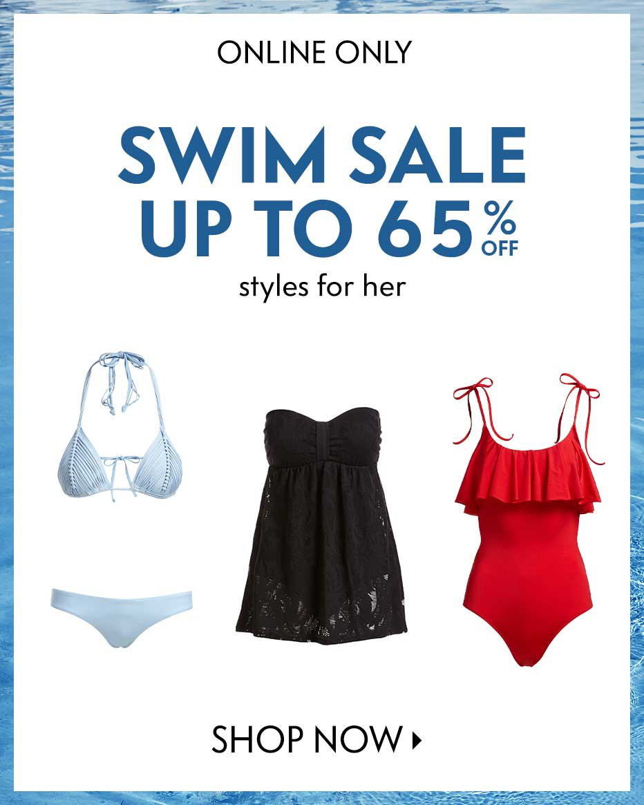 Online Only: Swim Sale - Up to 65% off styles for her