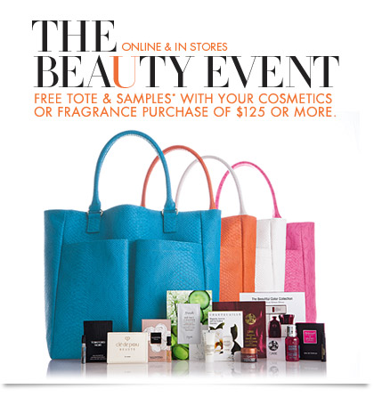 THE BEAUTY EVENT: Free Tote & samples