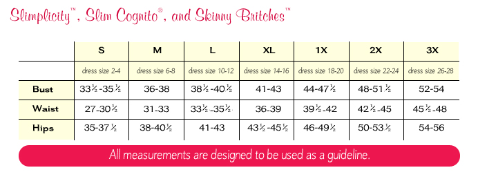 Spanx size guide