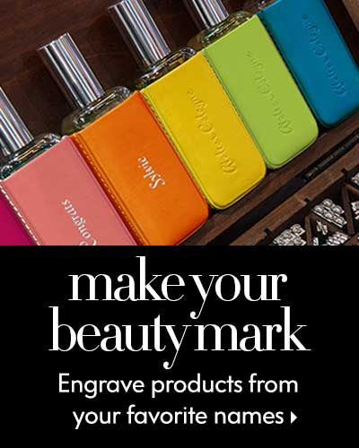 Make your beautymark - Engrave products from your favorite names