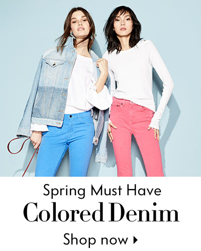 Spring Must Have Colored Denim