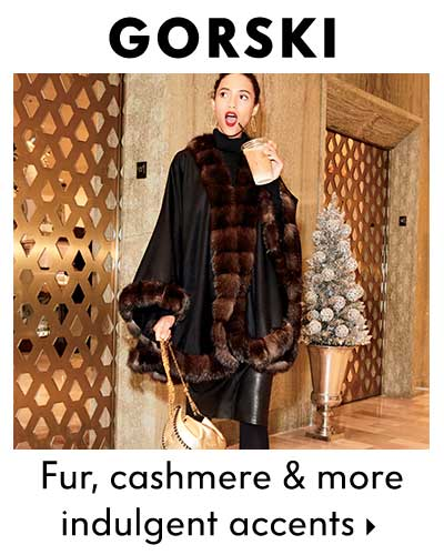 Gorski - Fur cashmere & more indulgent accents