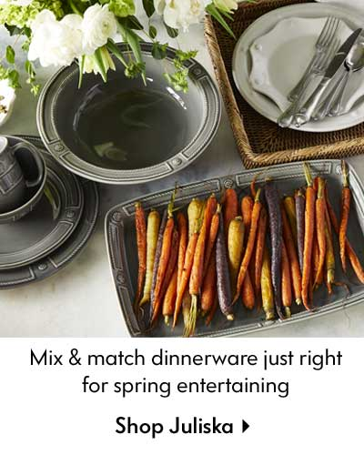 Mix & match dinnerware just right for spring entertaining