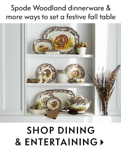 Spode Woodland dinnerware & more ways to set a festive fall table