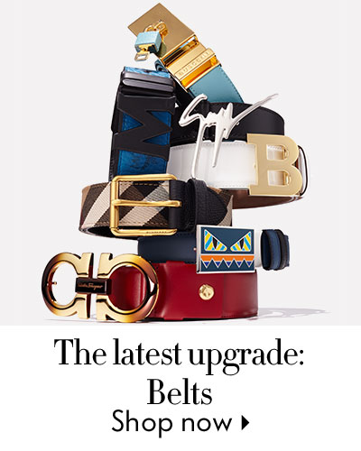 The latest upgrade: Belts - shop now