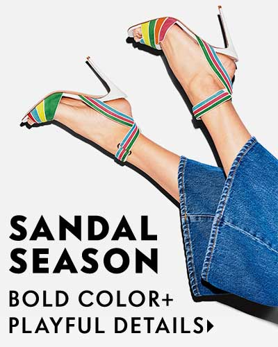 Sandal Season - Bold color + playful details