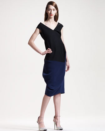 Structured Colorblock Dress