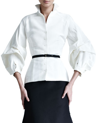 Silk Faille Blouse