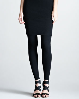 Stretch-Cashmere Tube Skirt, Black