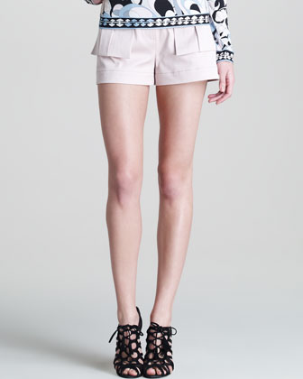 Sateen Flap-Pocket Shorts