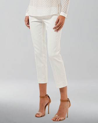 Cropped Pants, Ecru