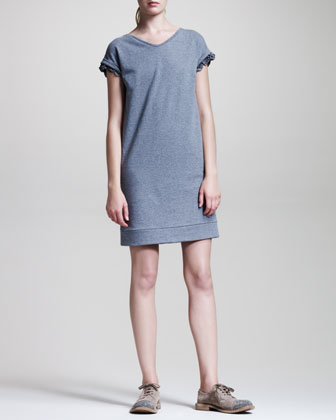 Ruffle-Trim Sweatshirt Dress