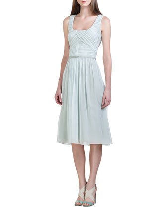 Silk Chiffon Dress, Seafoam