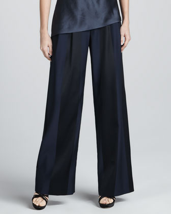 Paneled Wide-Leg Trousers