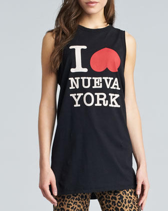 I Heart NY Muscle Tank, Black