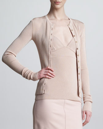 George Ribbed Cardigan