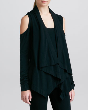 Cold-Shoulder Cozy, Black