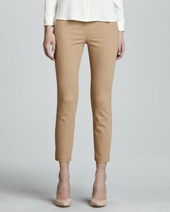 Cropped Skinny Leggings, Wheat