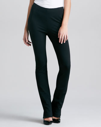 Structured Slim Jersey Body Pants, Black