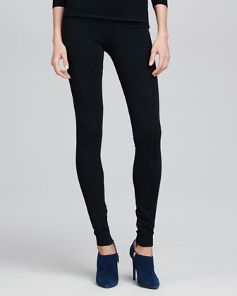 Heavy Jersey Leggings, Black