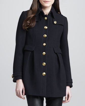 Golden Button Wool-Blend Coat