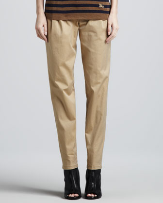 Pleat-Front Pants, Honey