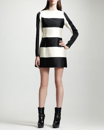 Striped Contour-Seam Dress