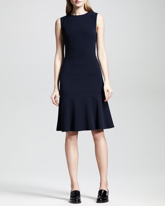 A-Line Flounce-Hem Sheath Dress