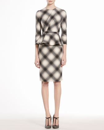 Check Flannel Flounce Dress