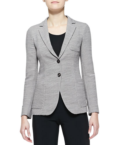 Wool Two-Button Blazer